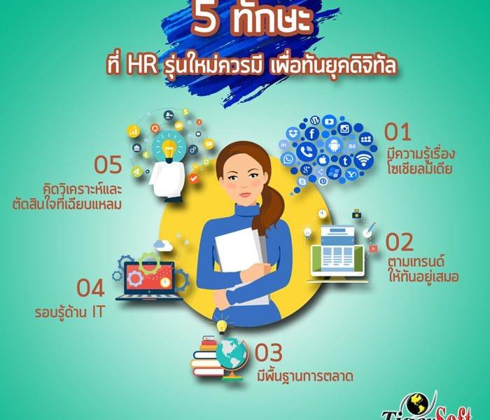 5 ทักษะที่ HR รุ่นใหม่ควรมี