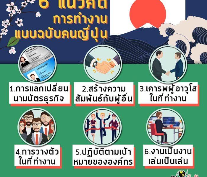 6 แนวคิดการทำงานแบบฉบับคนญี่ปุ่น