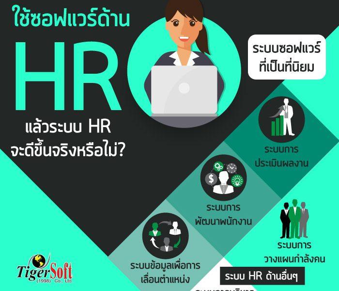 ใช้ซอฟแวร์ด้าน HR แล้วระบบ HR จะดีขึ้น